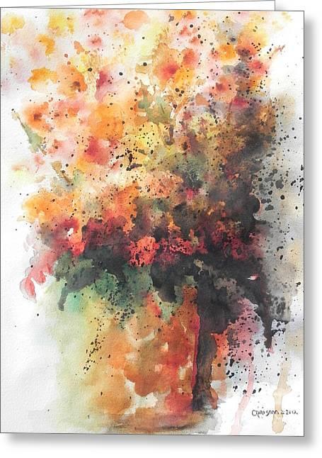Flower Still Life Prints Greeting Cards - Healing Greeting Card by Chrisann Ellis