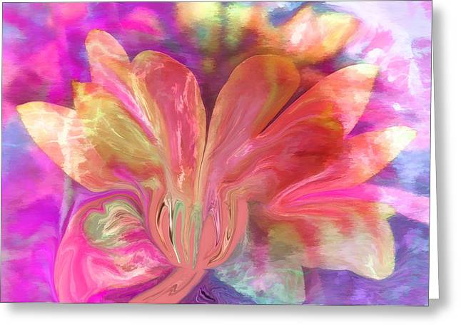 Greeting Cards - Healing Flower by Sherriofpalmsprings Greeting Card by Sherri  Of Palm Springs