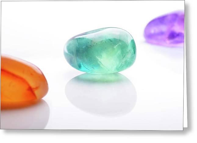 Healing Gemstones Greeting Card by Cordelia Molloy