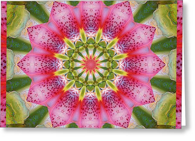 Mandala Photographs Greeting Cards - Healing Mandala 25 Greeting Card by Bell And Todd