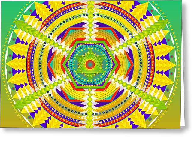 Healing Mandala Kathryn Greeting Card by Sarah  Niebank