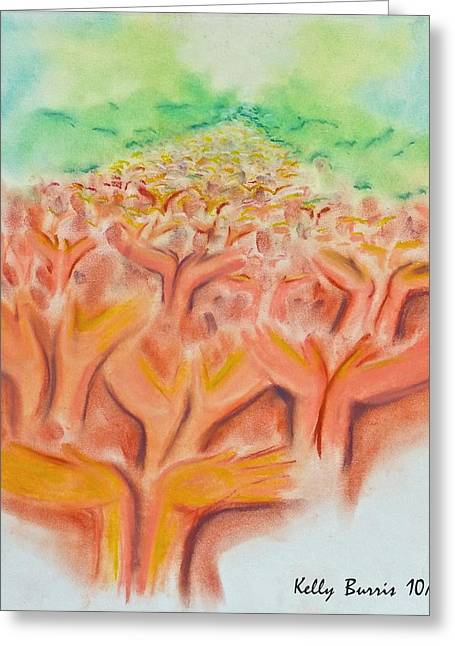 Jesus Pastels Greeting Cards - Healing Presence Greeting Card by Kelly Burris