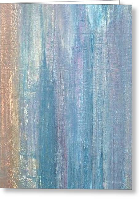 Abstract Rain Greeting Cards - Healing Rain II Greeting Card by Christine Nichols