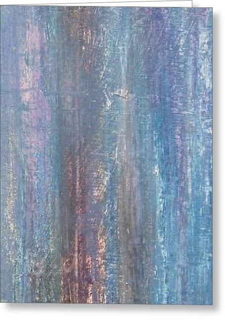 Abstract Rain Greeting Cards - Healing Rain III Greeting Card by Christine Nichols