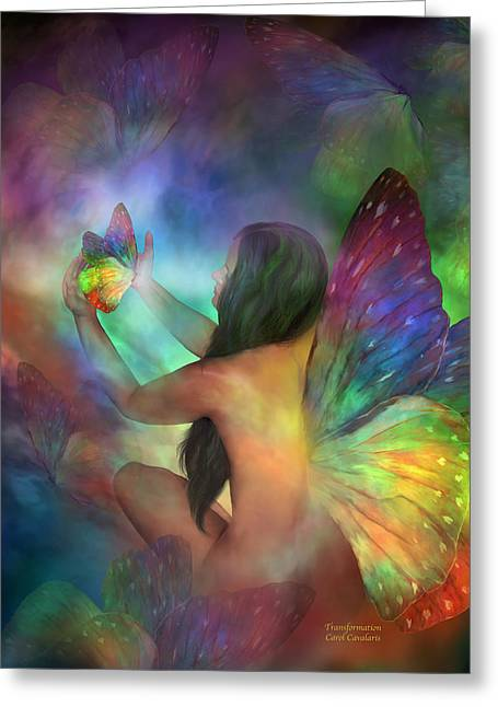 Healing Transformation Greeting Card by Carol Cavalaris