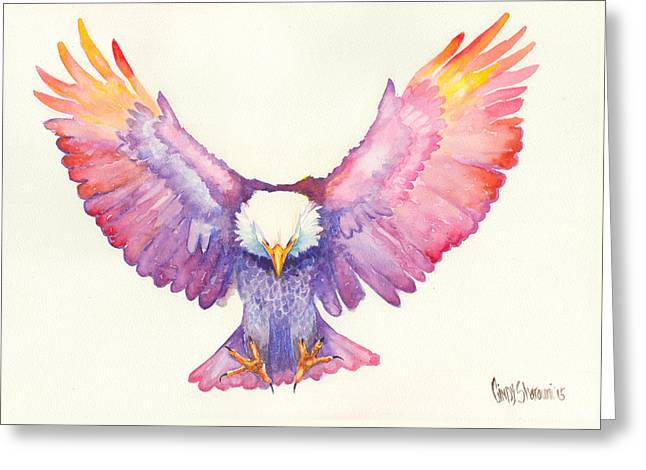 Religious Drawings Greeting Cards - Healing Wings Greeting Card by Cindy Elsharouni