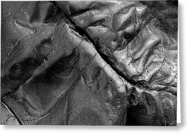 Gash Greeting Cards - Healing Wound In Basalt Greeting Card by Robert Woodward