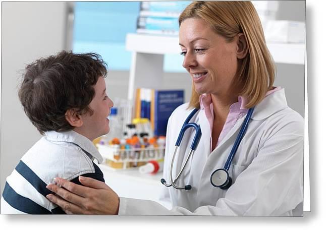 Health Check Greeting Card by Tek Image