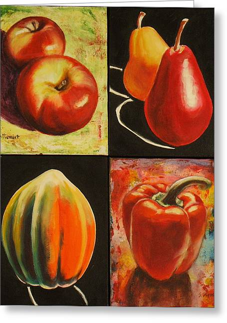 Kitchener Paintings Greeting Cards - Healthy Eating Greeting Card by Sheila Diemert