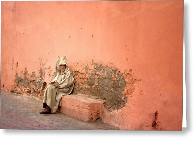 Berber Man Greeting Cards - Heard youre new in town Ill show you round.. Greeting Card by A Rey