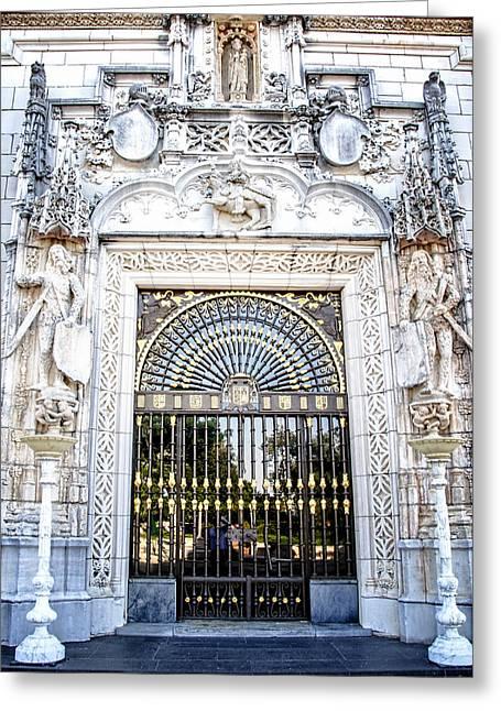 Casa Encantada Greeting Cards - Hearst Castle Entry - California Greeting Card by Jon Berghoff