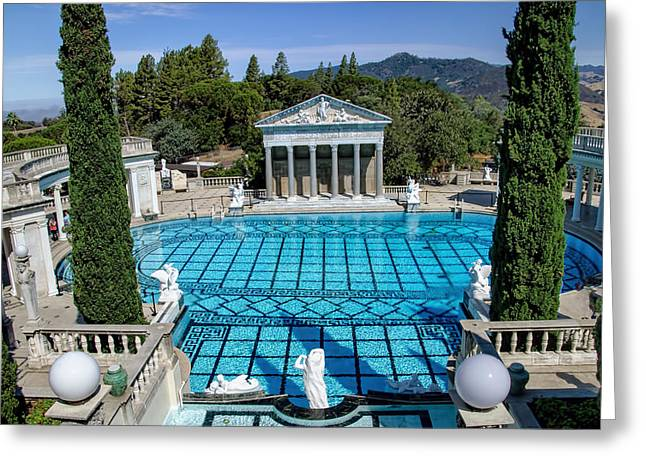 William Randolph Greeting Cards - Hearst Castle Pool - California Greeting Card by Jon Berghoff