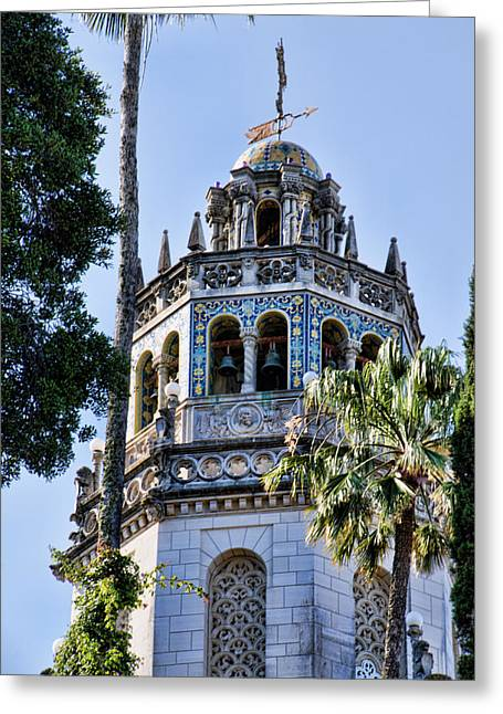 William Randolph Greeting Cards - Hearst Castle Tower - California Greeting Card by Jon Berghoff