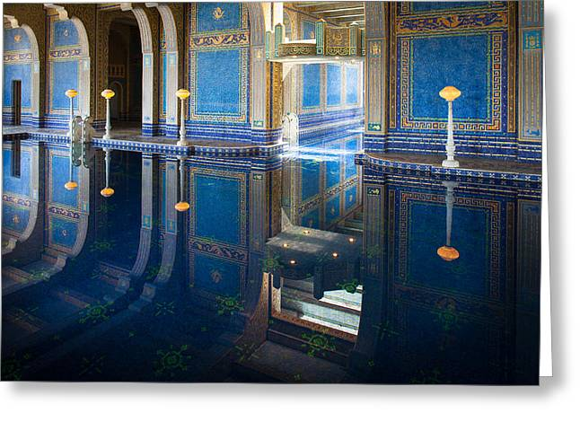 Opulence Greeting Cards - Hearst Pool Greeting Card by Inge Johnsson