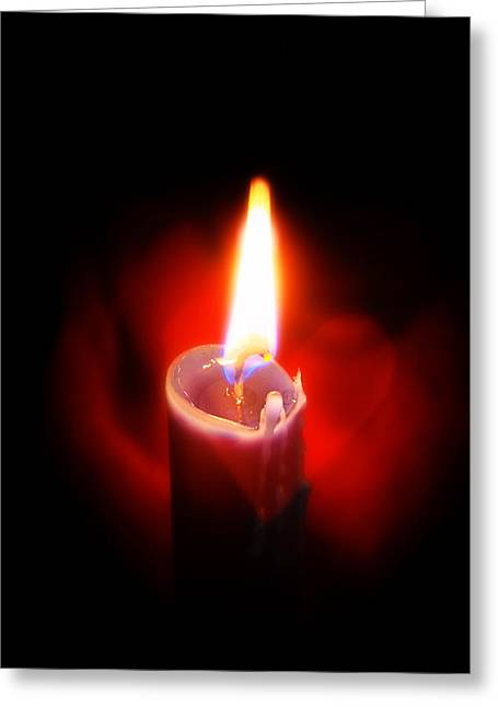 Sacramental Greeting Cards - Heart Aflame Greeting Card by Sennie Pierson