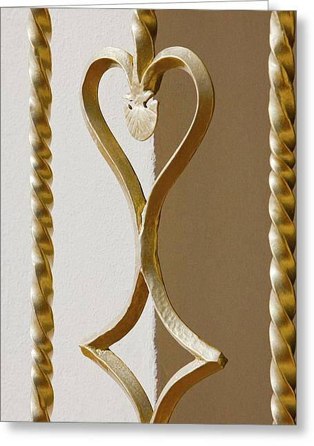 Yang Greeting Cards - Heart and Diamond Greeting Card by Art Block Collections