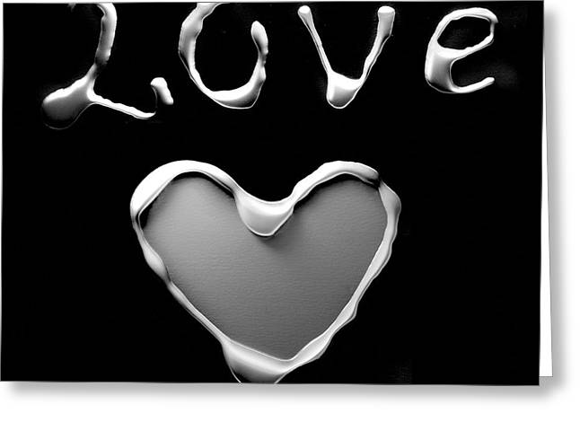 Actual Greeting Cards - Heart and love Greeting Card by Gina Dsgn