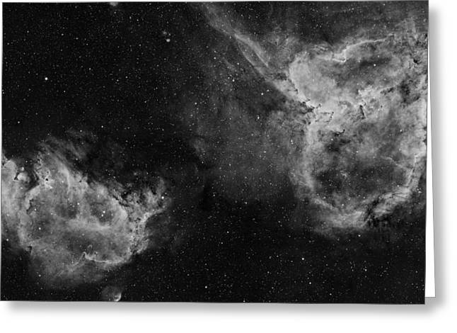 Ic1805 Greeting Cards - Heart and Soul nebula Greeting Card by Sara Wager