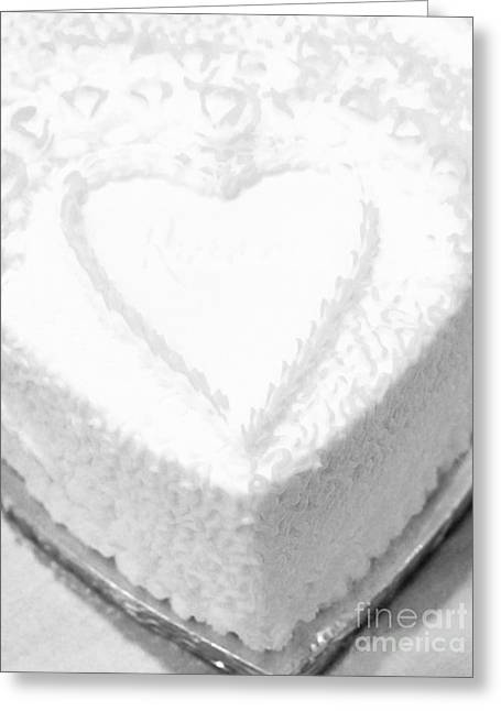 Heart Cake Greeting Card by Kathleen Struckle