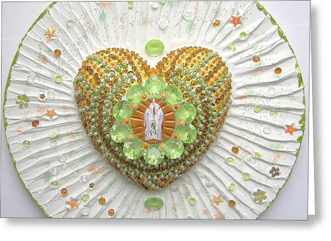 Shine Reliefs Greeting Cards - Heart Cathedral Greeting Card by Heidi Sieber