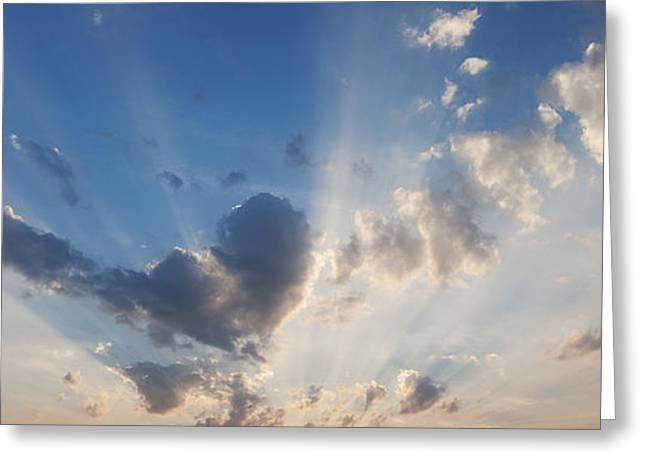 Crepuscular Rays Greeting Cards - Heart Cloud Greeting Card by Tim Gainey