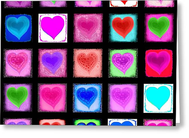 Sweethart Greeting Cards - Heart Collage Greeting Card by Cindy Edwards