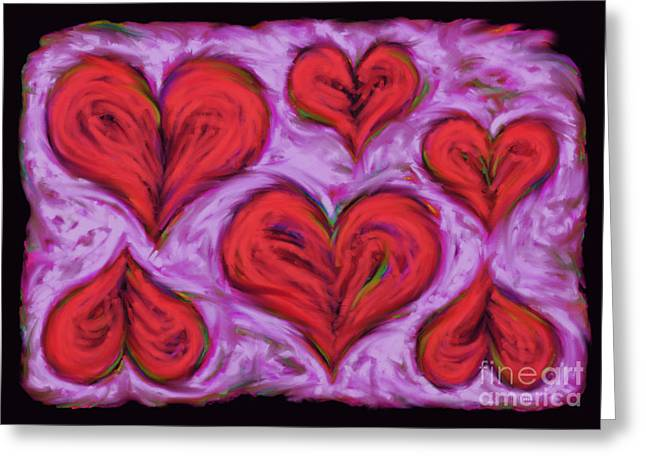 Loose Style Digital Greeting Cards - Heart drift Greeting Card by Keith Mills