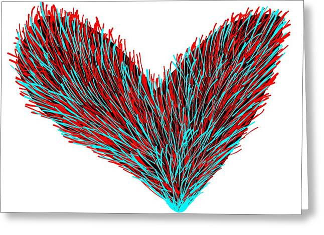 Ying Mixed Media Greeting Cards - Heart Felt Greeting Card by Michael Pace