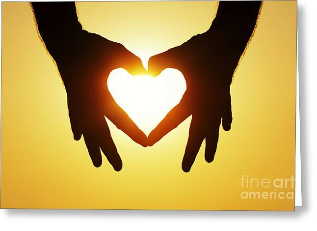 Spirituality Photographs Greeting Cards - Heart Hands Greeting Card by Tim Gainey