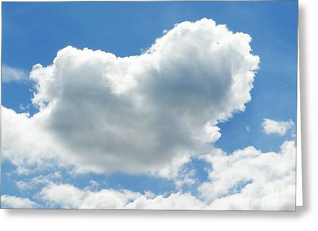 Fineartamerica Pyrography Greeting Cards - Heart in the clouds Greeting Card by Karin Ravasio