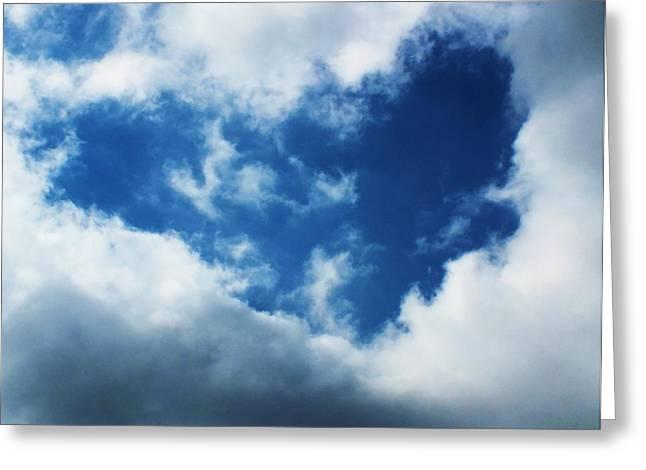 Anna Villarreal Garbis Greeting Cards - Heart in the Sky Greeting Card by Anna Villarreal Garbis