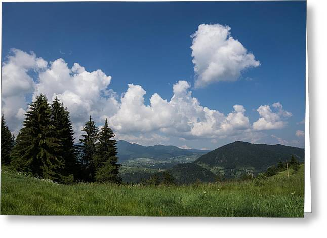 The Hills Greeting Cards - Heart in the Sky Greeting Card by Georgia Mizuleva