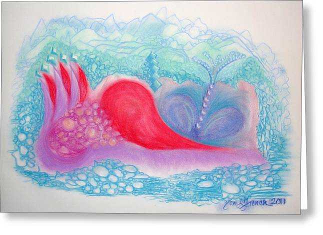 Treasures Pastels Greeting Cards - Heart Land Greeting Card by Mademoiselle Francais