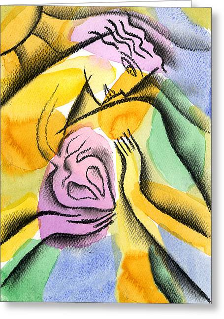 Disorder Greeting Cards - Heart Greeting Card by Leon Zernitsky