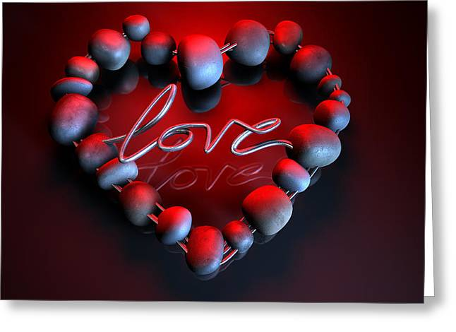 Heart Love Stones Greeting Card by Allan Swart