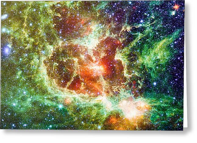 Astro Images Greeting Cards - Heart Nebula digital drawing Greeting Card by Eti Reid