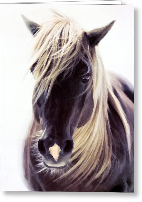 Mammalian Greeting Cards - Heart Of A Horse Greeting Card by Georgiana Romanovna