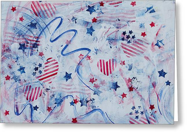 Heart of America Greeting Card by Julie Acquaviva Hayes