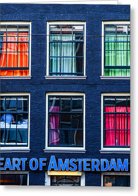 Window Of Life Greeting Cards - Heart of Amsterdam. Dutch Sketches Greeting Card by Jenny Rainbow