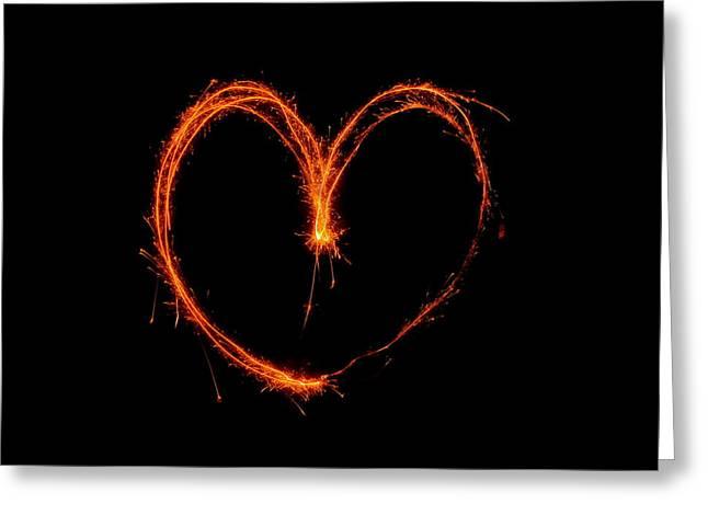 Jennifer Lamanca Kaufman Greeting Cards - Heart of Fire Greeting Card by Jennifer Lamanca Kaufman