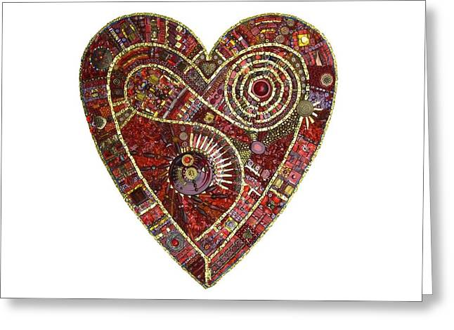 Romance Glass Art Greeting Cards - Heart of Glass Greeting Card by Genna Wise
