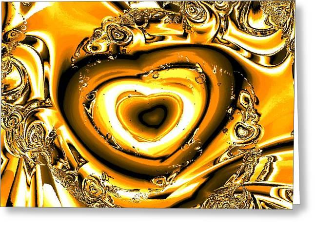 Meditation Greeting Cards - Heart of Gold Greeting Card by Anastasiya Malakhova