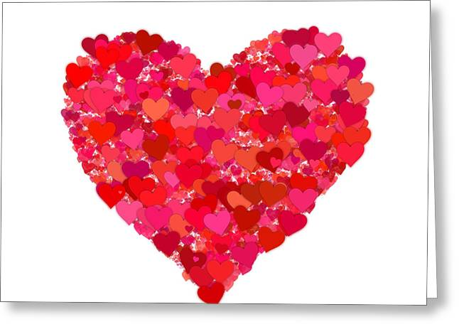 Romantic Greeting Cards - Heart of Hearts Greeting Card by Kurt Van Wagner
