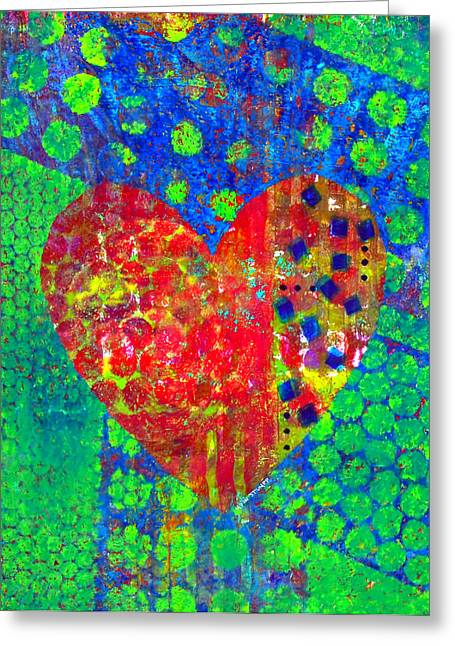 Emotion Mixed Media Greeting Cards - Heart of Hearts series - Cheers Greeting Card by Moon Stumpp