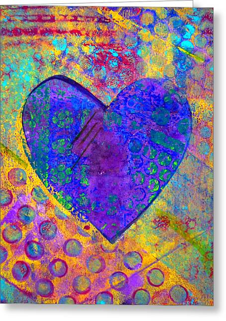 Emotion Mixed Media Greeting Cards - Heart of Hearts series - Compassion Greeting Card by Moon Stumpp