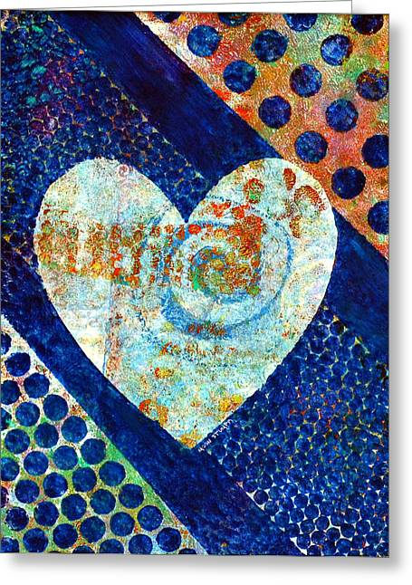 Fine Mixed Media Greeting Cards - Heart of Hearts series - Elated Greeting Card by Moon Stumpp