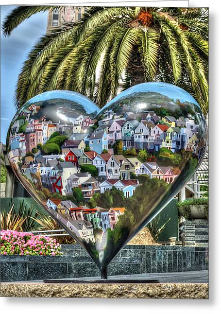 Union Square Greeting Cards - Heart of San Francisco Greeting Card by Anthony Citro