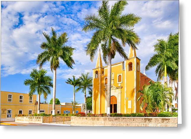 Mexican Culture Greeting Cards - Heart of Santa Ana Barrio - Merida Greeting Card by Mark Tisdale