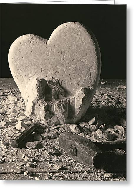 Hearts Greeting Cards - Heart of Stone c1978 Greeting Card by Paul Ashby