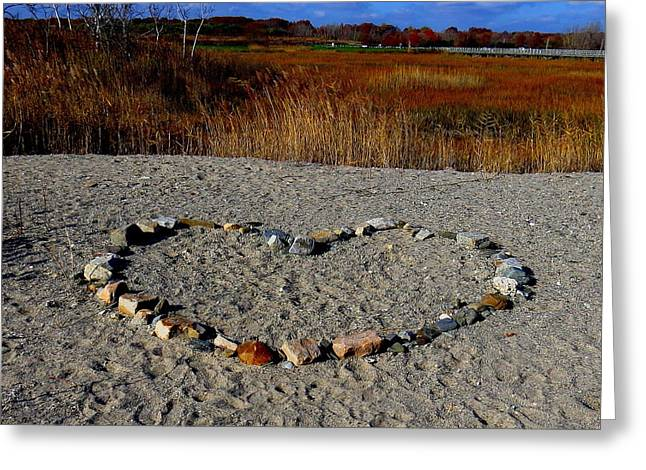 Heart Of Stone Greeting Card by Stephen Melcher
